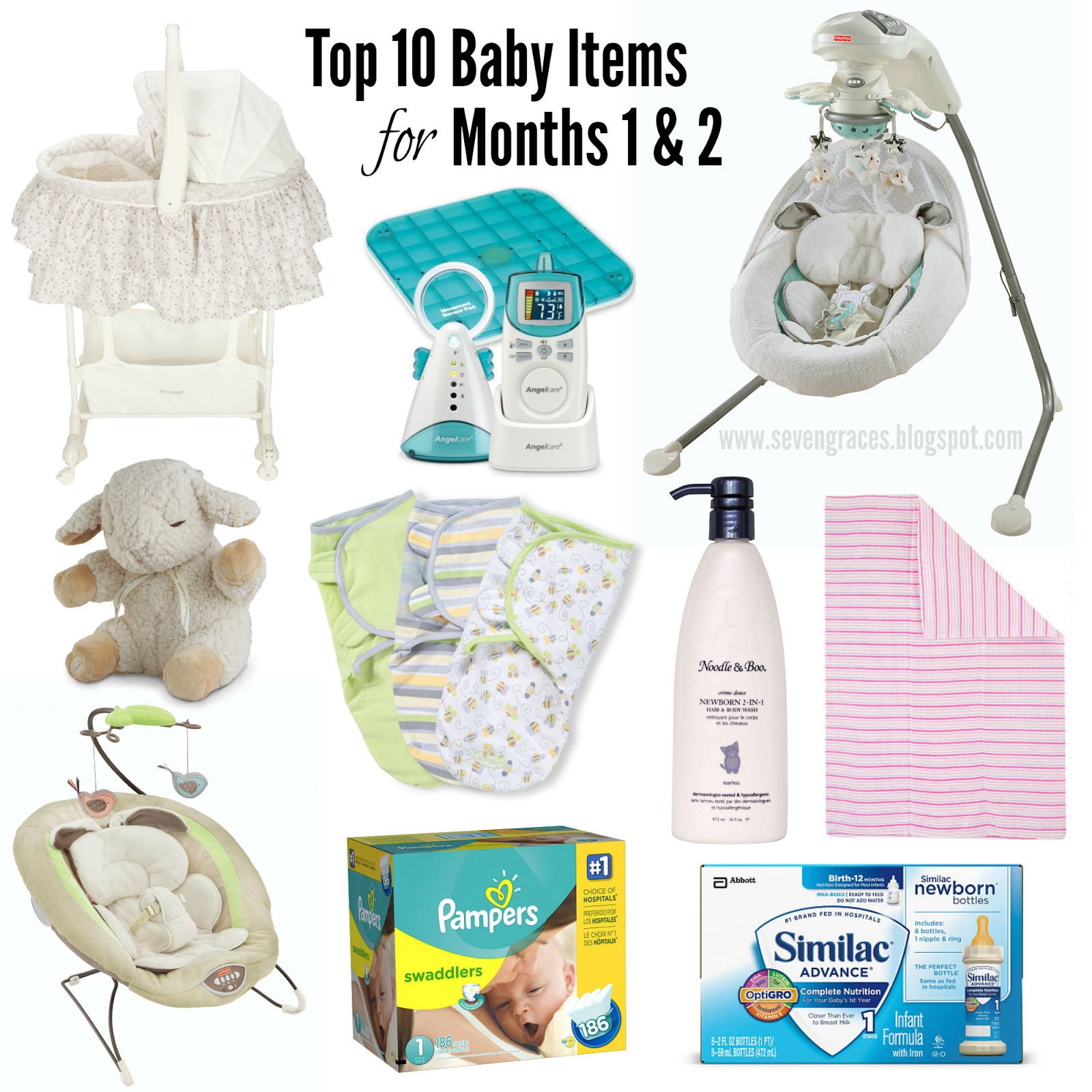 Top 10 Baby Items for Months 1 & 2 - Seven Graces