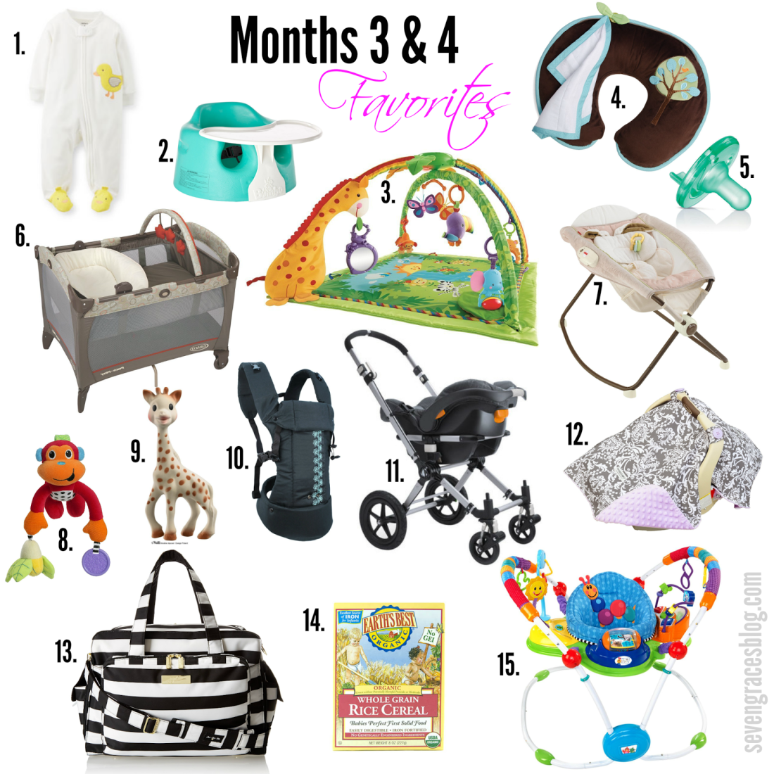 Top 15 Baby Items for Months 3 & 4 - Seven Graces
