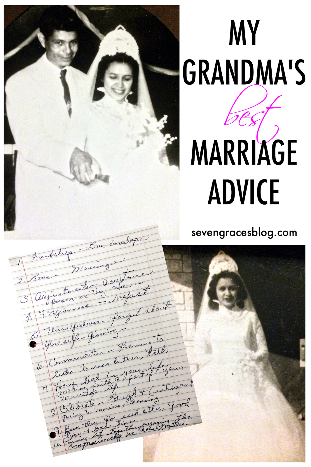 My Grandma Sayings: My Grandma's Best Marriage Advice