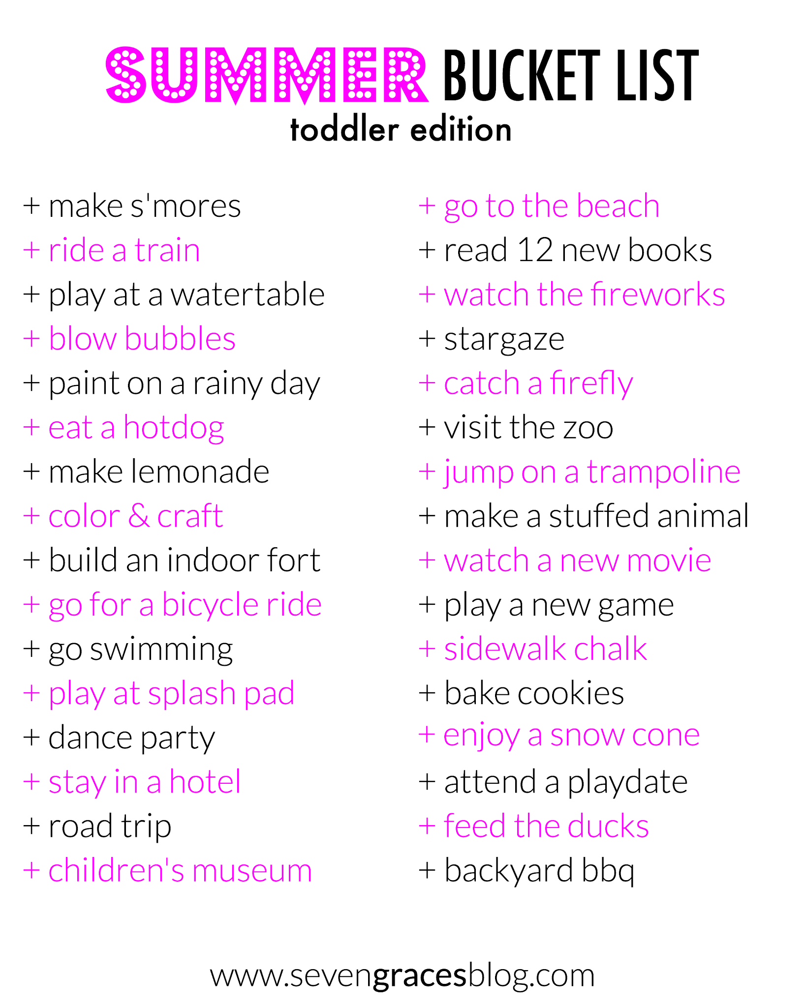 50 Summertime Activities & Boredom Busters! The ultimate Summer Bucket List for toddlers and preschoolers!