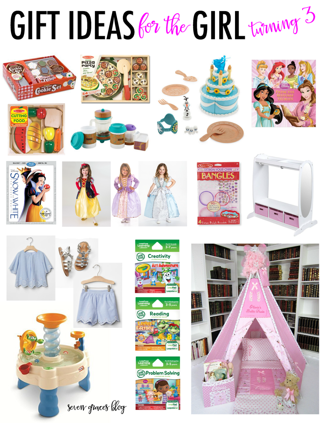 Gift Ideas For The Girl Turning Three Seven Graces