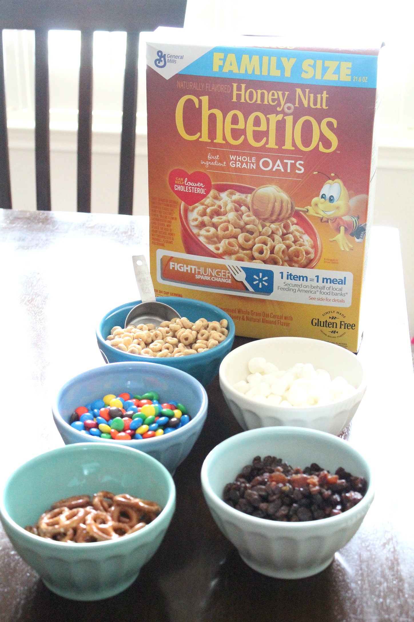 A kid-approved trail mix. Make as a rainy day activity or anytime. This trail mix is definitely a favorite!