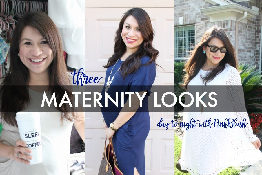 Three Maternity Looks: Day to Night with PinkBlush Maternity