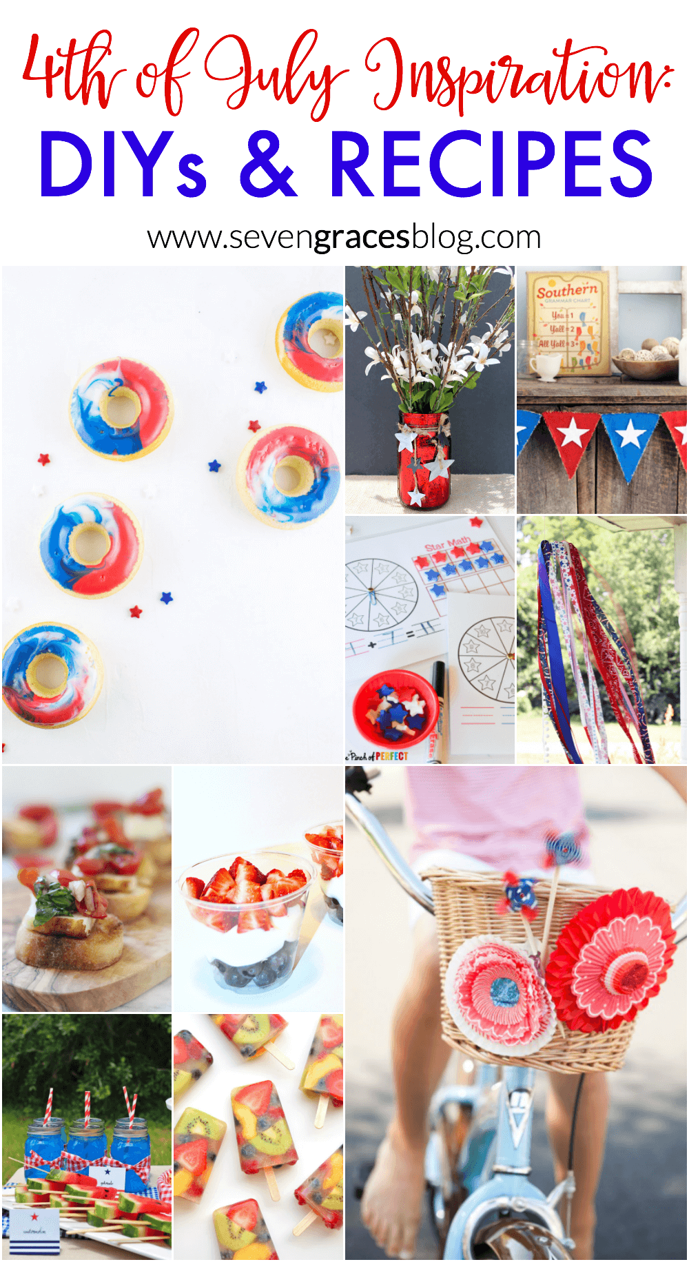4th of July Inspiration for DIYs and recipes. Fun and patriotic finds from some of the best blogs around.