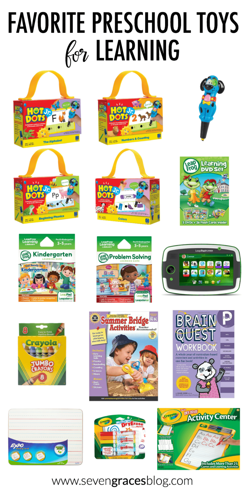 Preschool Learning Toys : Best preschool toys for learning seven graces