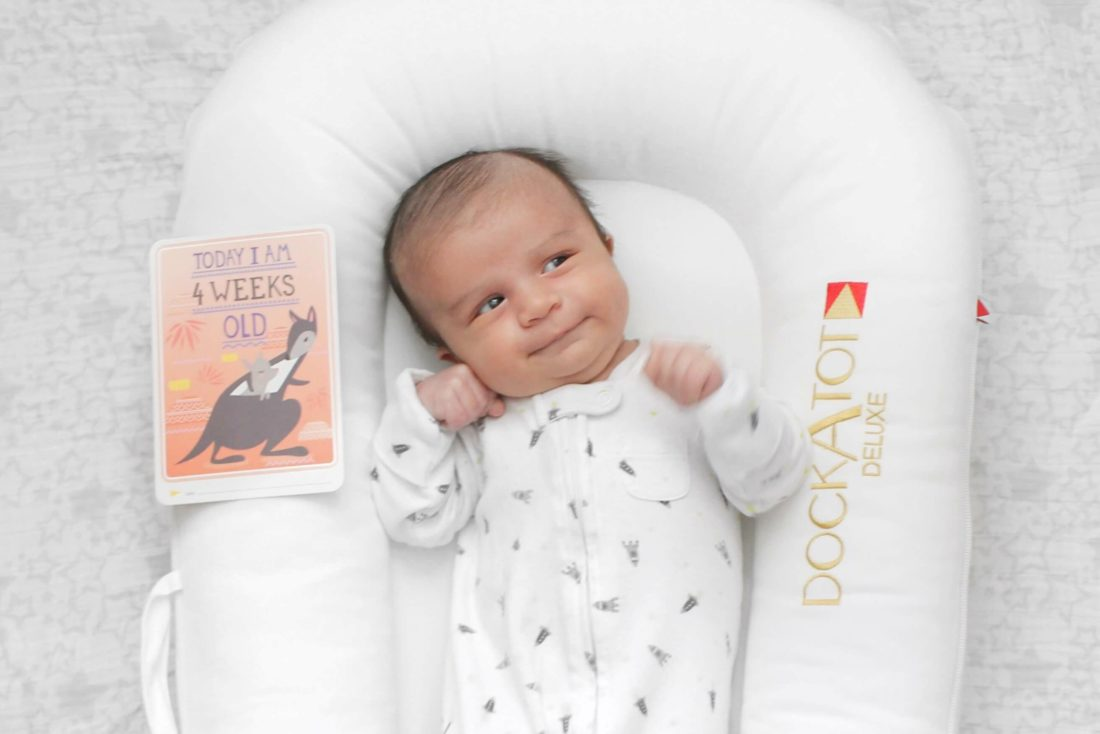 The First Month with Baby Boy: Colin at One Month