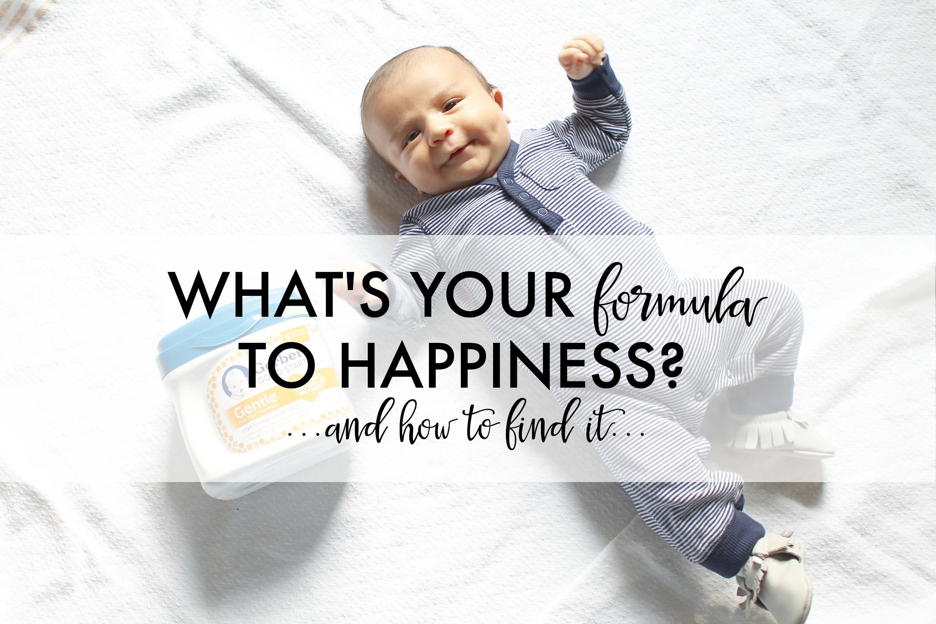 What's Your Formula to Happiness?