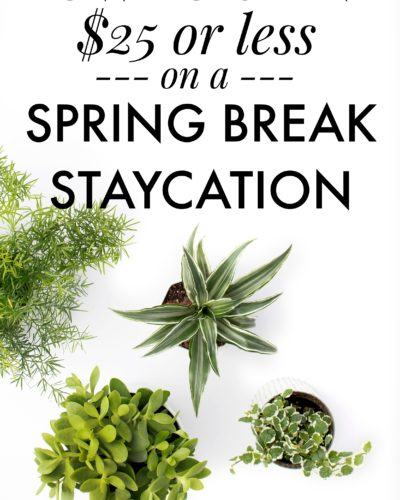 How to Spend $25 or Less on a Spring Break Staycation