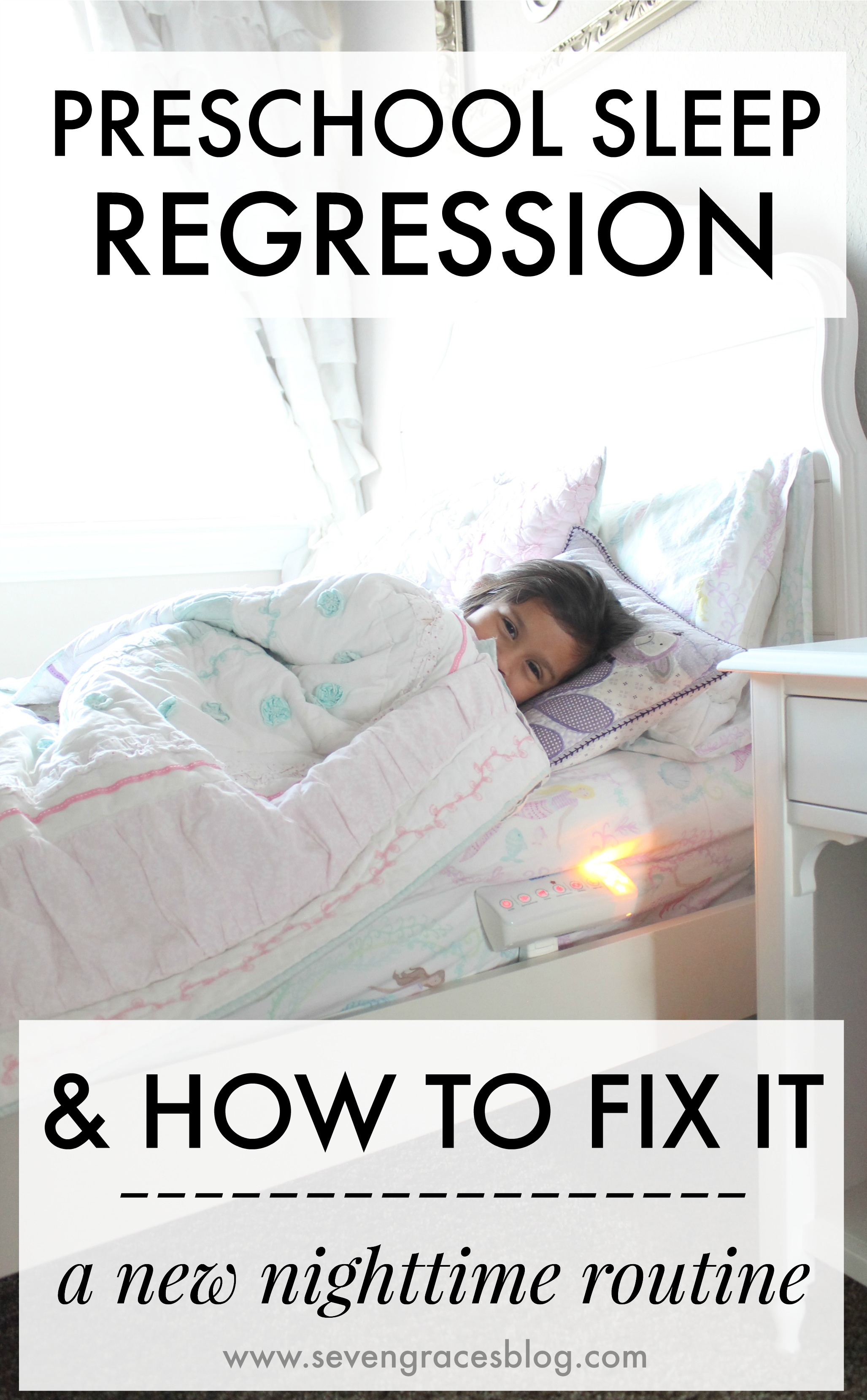 Preschool sleep regression and how to fix it (including our newfound love for the HaloSleep SnoozyPod). When your child has a newfound fear, a new nighttime routine is necessary. Is your preschooler waking up at night or fighting bedtime? Read all about our experience with sleep regression and the tips I've learned on how to fix it. #halosleep #ad