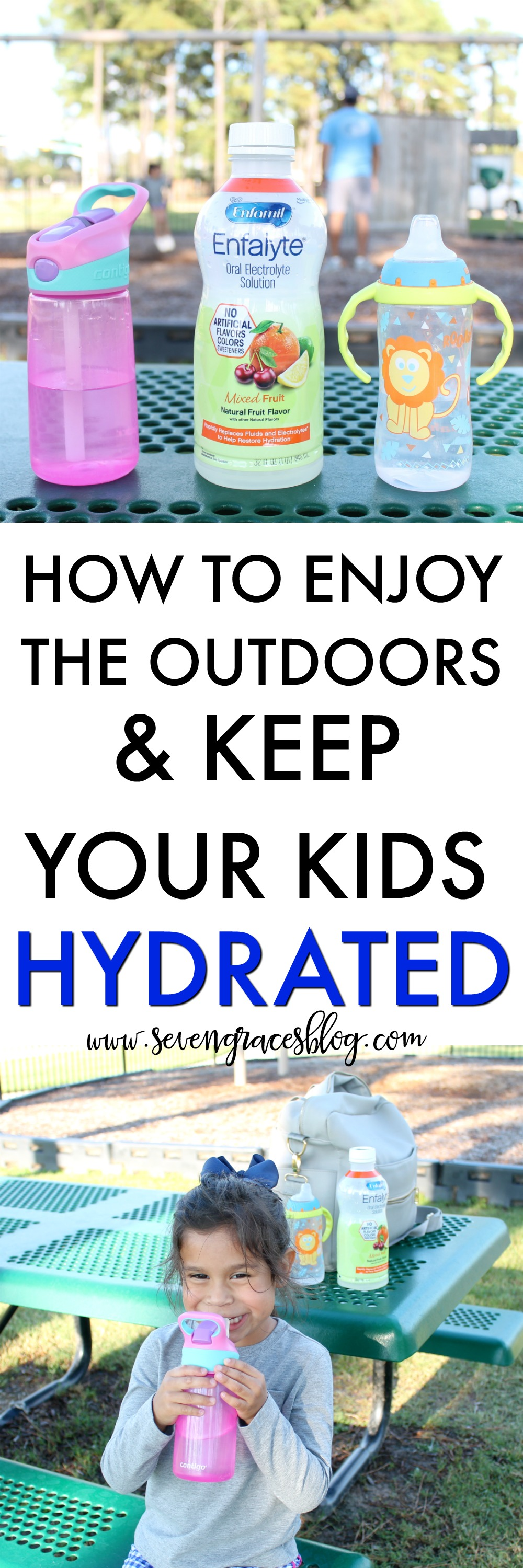 How to enjoy the outdoors and keep your kids hydrated: A great resource for moms! #enfalyte #ad
