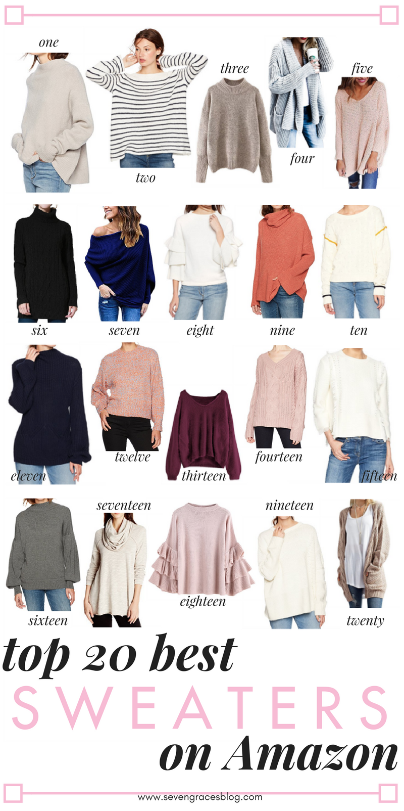 The best Amazon fashion sweaters. All the best sweaters you'll want this winter all from Amazon! The best sweaters for work or everyday wear.