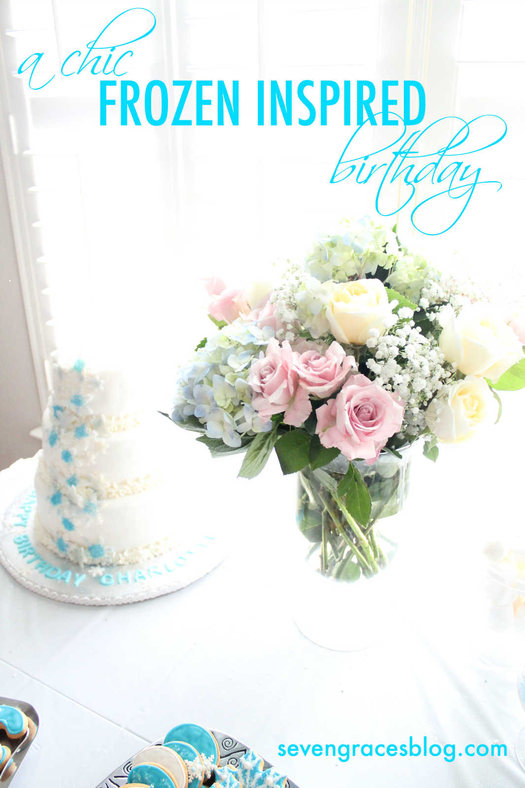 Charlottes royal 2nd birthday a chic frozen theme seven graces after seeing the ivory lane create a beautiful frozen party months ago i knew a chic frozen theme was exactly what i wanted charlottes second birthday izmirmasajfo