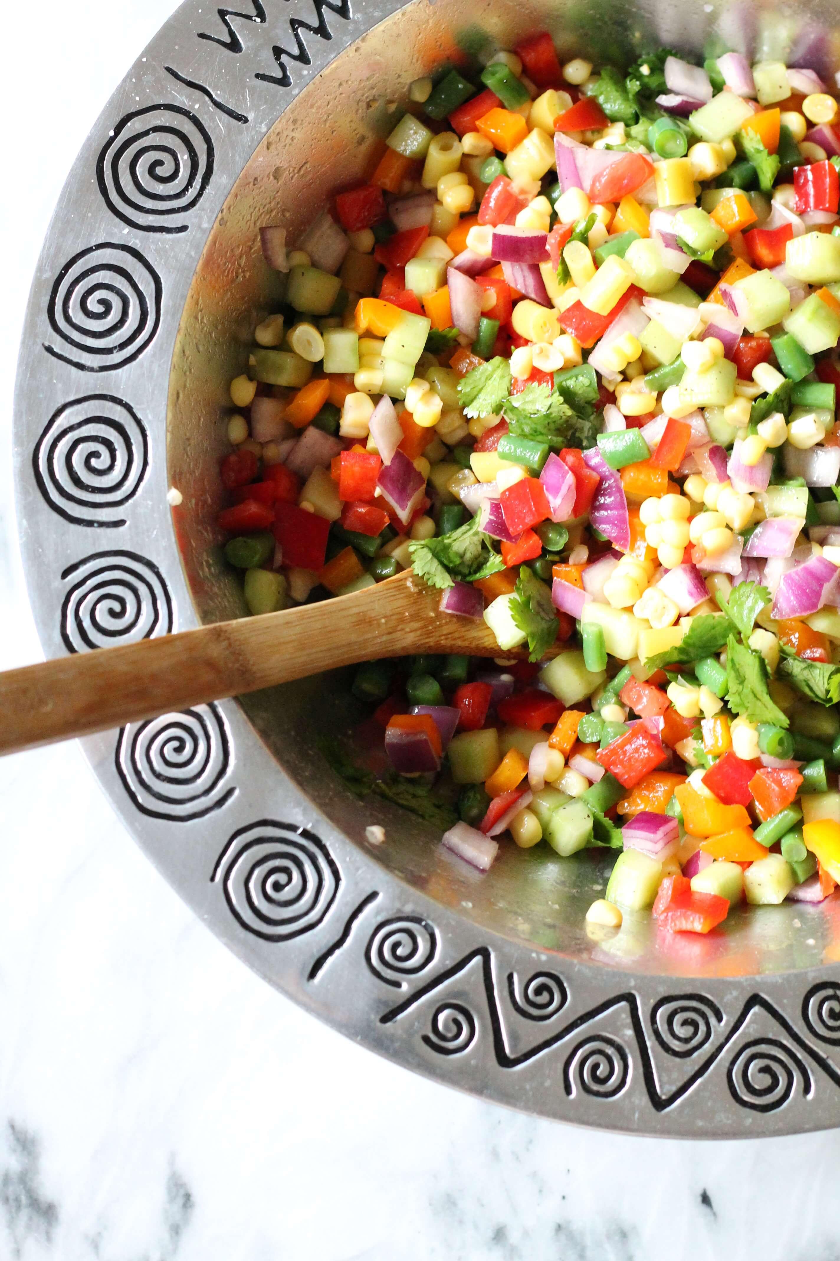 martha stewarts chopped vegetable salad the best mix of fresh veggies - Christmas Salads Martha Stewart