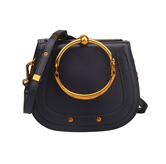 700c3845680d DUPE ALERT :: Metal Ring Crossbody Purse $99 Amazon Prime :: This is my  favorite Chloe dupe ever! The Chloe Nile Crossbody bag is $1,690. No thanks.